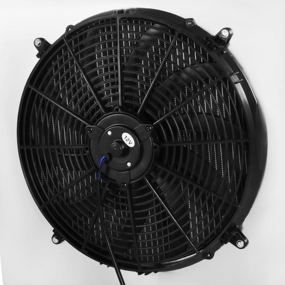 For Jeep Wrangler Yj Tj 24l 42l 3 Row Tri Core Heater Box Wiring Harness Fan Relay Aluminum Radiator 12v Shroud Automotive