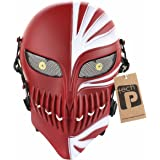 Tech-p Death Mask Airsoft Cs Wargame Protective Mask Gear Movie Props-red