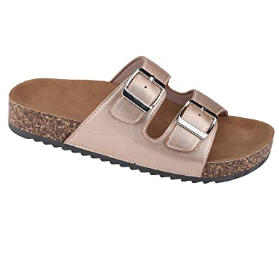 ff24e895fb51 Women Casual Buckle Straps Sandals 5.5 US (Rose Gold-B)