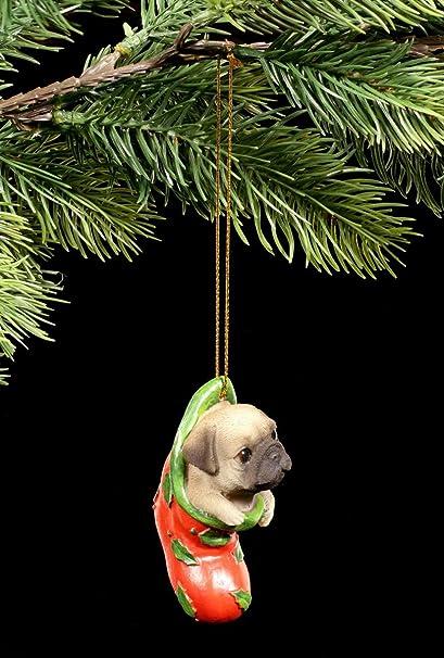 Árbol de joyas perro figura | Carlino en calcetines | bola decorativa navideña