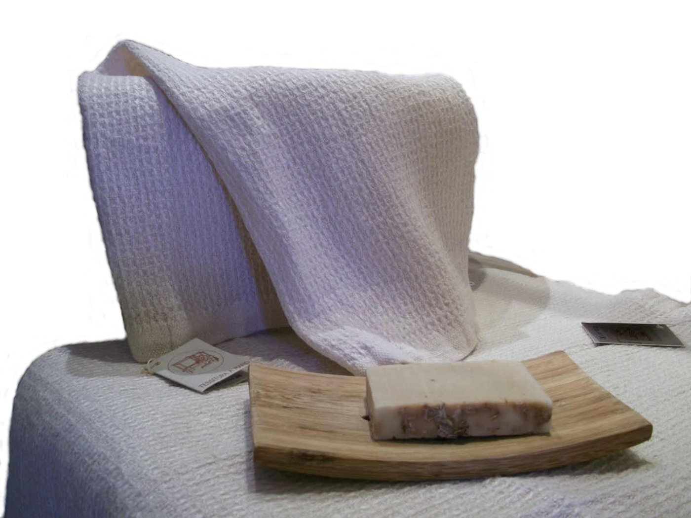 La tesitura de voz a mano - tejido a mano toallas, lino puro - diseño italiano: Amazon.es: Hogar