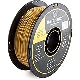 HATCHBOX 3D PLA-1KG1.75-GLD PLA 3D Printer Filament, Dimensional Accuracy +/- 0.05 mm, 1 kg Spool, 1.75 mm, Gold