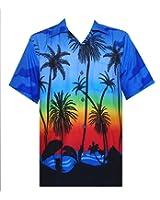 Hawaiian Shirt Mens Allover Coconut Tree Print Beach Aloha Party