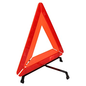 WARNING TRIANGLE EMERGENCY BREAKDOWN FOLDABLE SIGN HAZARD EU REFLECTIVE CAR NEW