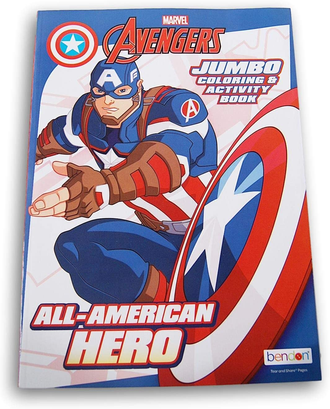 Amazon Com Avengers Captain America Jumbo Activity Book Puzzles Games Mazes Matching Coloring Sheets More 96 Pages Packed With Fun Toys Games