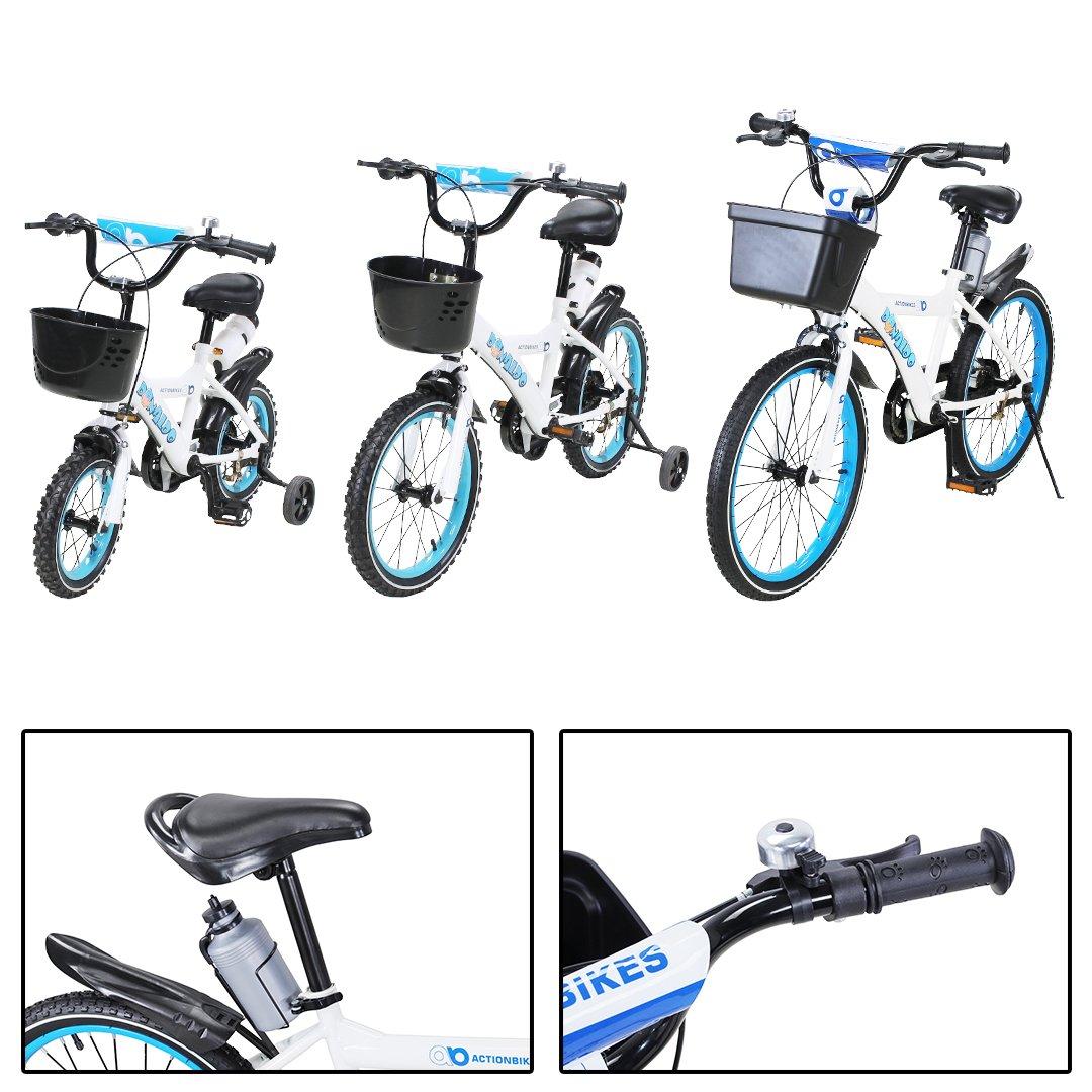 Actionbikes Motors Kinderfahrrad Donaldo ab 3-9 Jahren 12 16 20 Zoll Blau Kinder Mädchen Jungen Fahrrad …