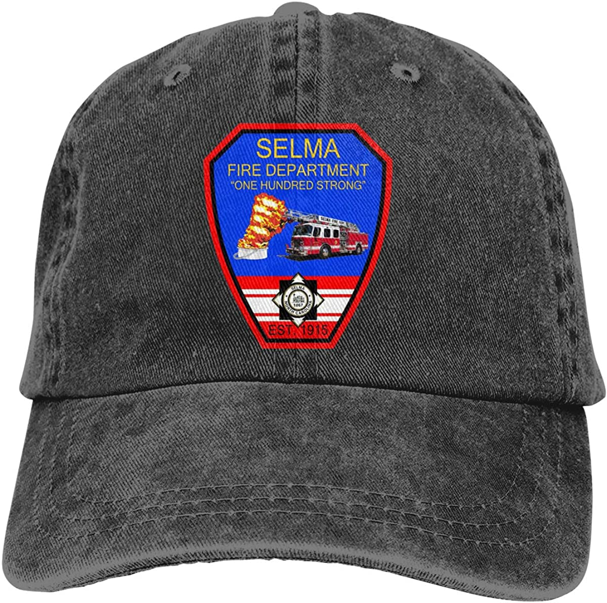 GAOFEIhat Fire Prevention /& Inspections Town of Selma NC Unisex Adult Denim Hats Cowboy Hat Dad Hat Driver Cap