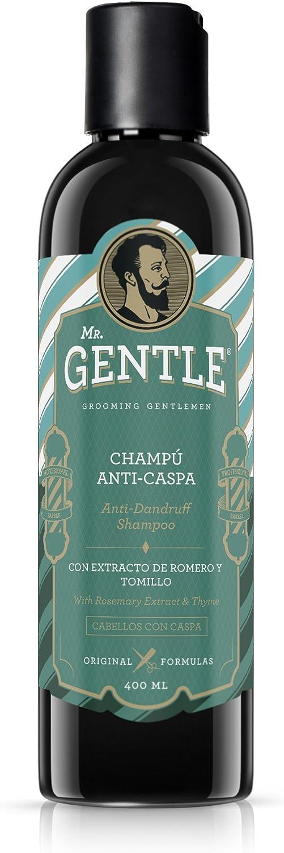MR.GENTLE - Champú Anticaspa Hombre - Antigrasa, Fortificante e ...