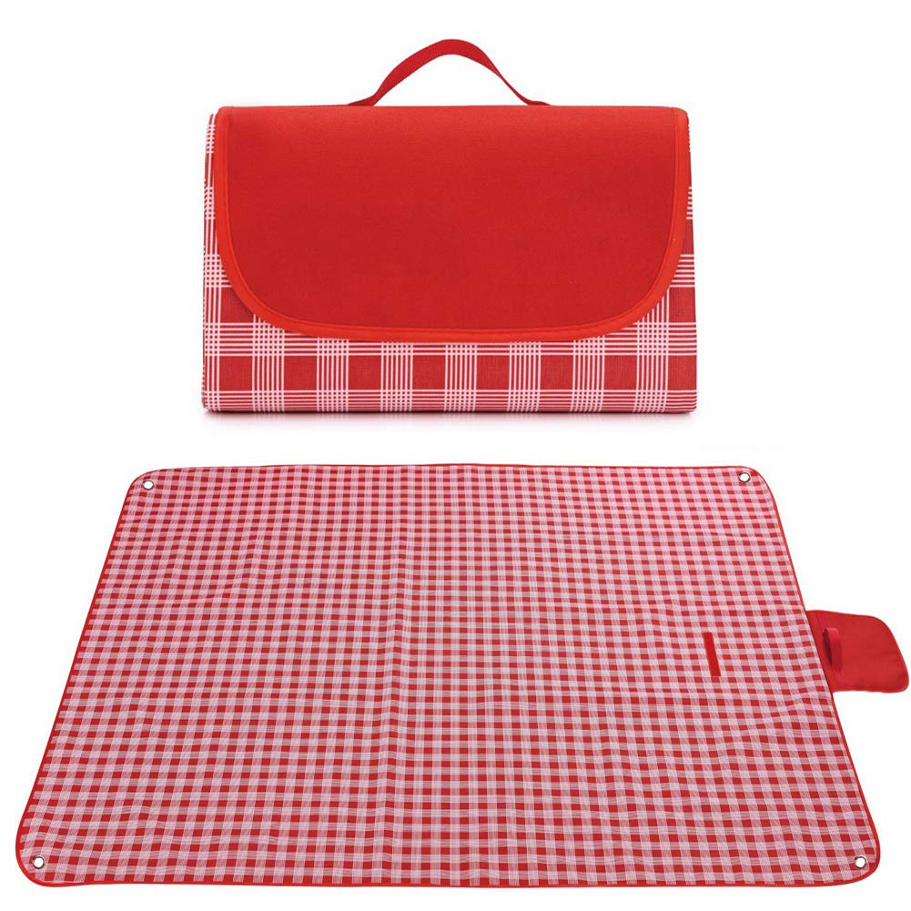 GIMEFIVE Large Waterproof Outdoor Picnic Blanket Sand Proof and Waterproof Picnic Mat Tote for Camping Hiking Grass Travelling Dual//Triple Layers
