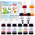 Ktdorns Soap Dye Soap Making Set - 10 Liquid Colors for Soap Coloring,Coal Black, Royal Blue,Chocolate Brown,Lemon Yellow,Fru