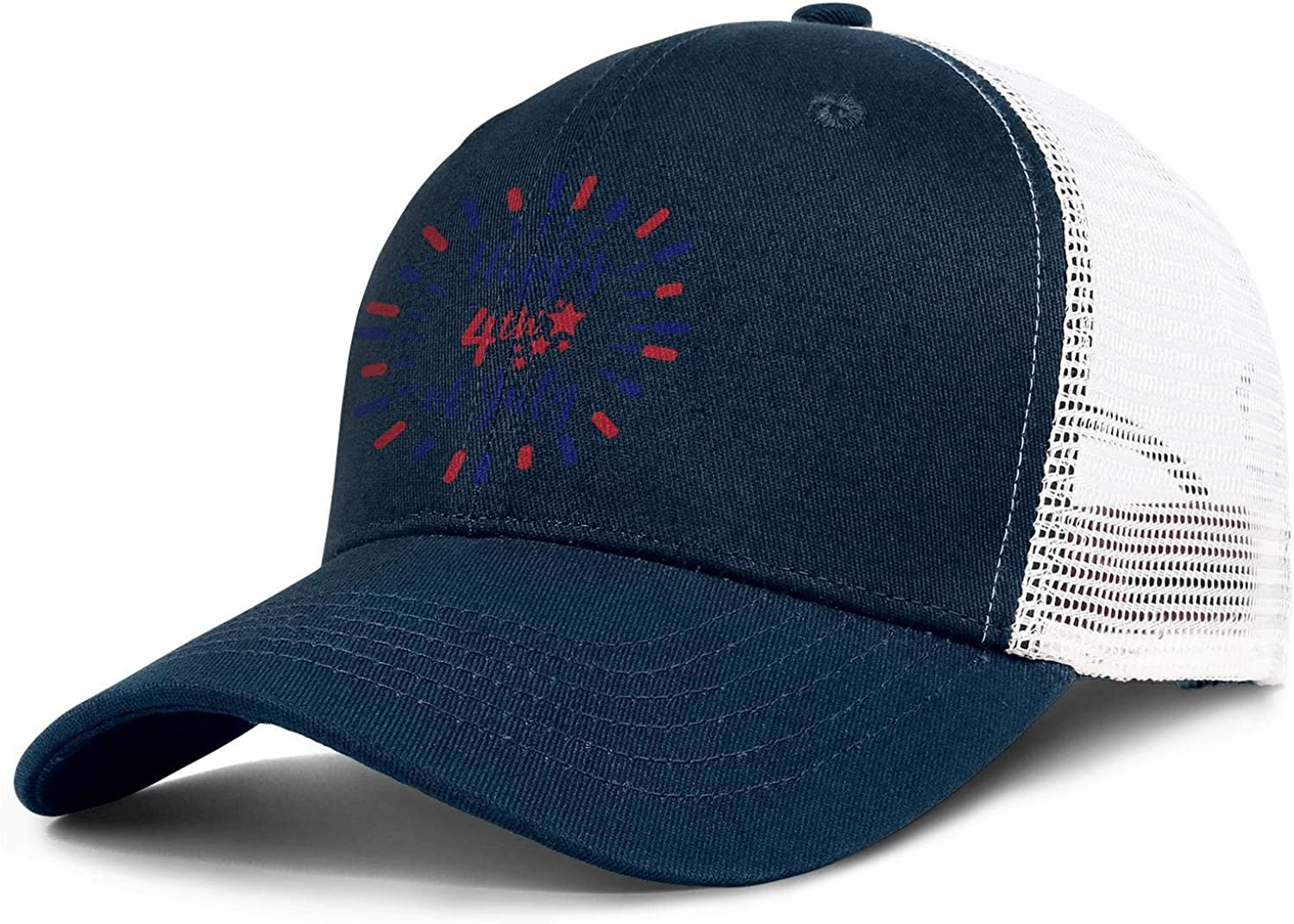 NNJA Happy 4th of July Celebration Vector Mens Flat One Size Low Profile Core Snapback Hat