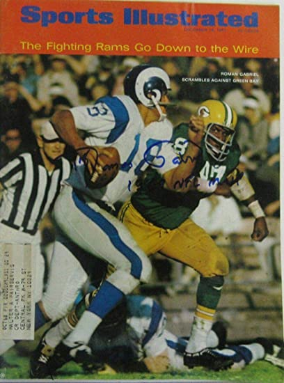 1f5f6a2868c Roman Gabriel LA Rams Signed/Inscribed Sports Illustrated Dec 18, 1967  141558 - Autographed NFL Magazines at Amazon's Sports Collectibles Store