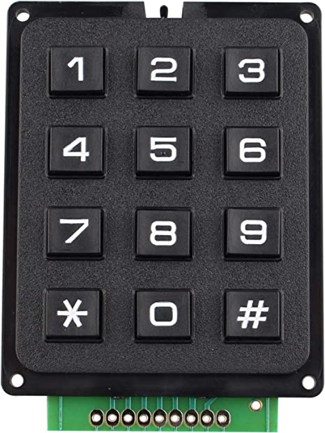 HALJIA 4 x 3 matriz matriz 12 conmutadores teclado módulo de teclado de 12 teclas MCU interruptor de membrana teclado teclado compatible con Arduino ...