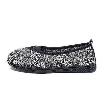 Womens House Slipper Comfort Memory Foam Fluffy Slip-on Fleece Fur Lined/Anti-Skid Sole, Indoor & Outdoor | Slippers