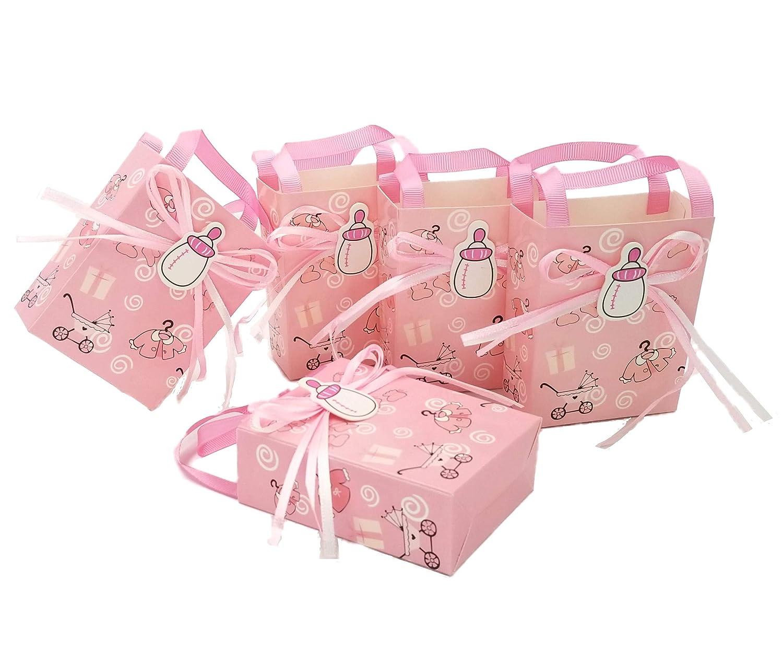 JZK 50x Little Prince Kraft Papier Geschenkbox Gastgeschenk Süßigkeiten Kartons Bonboniere Kasten Favour Box für Jungen Geburtstag Party Taufe Babypartys Baby Shower