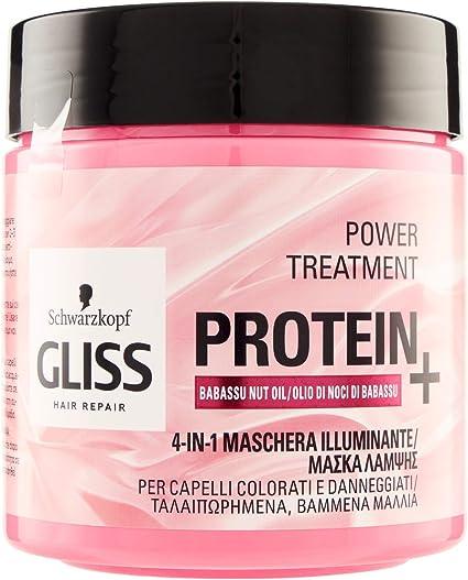 Gliss - Mascarilla Proteína 4 en 1 Aceite de Babasu, Proteína ...