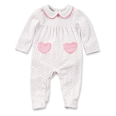 84fc483e62 Amazon.com  Mud Pie Baby Girl s Heart Velour Sleeper (Infant) Pink White  Jumpsuit  Clothing