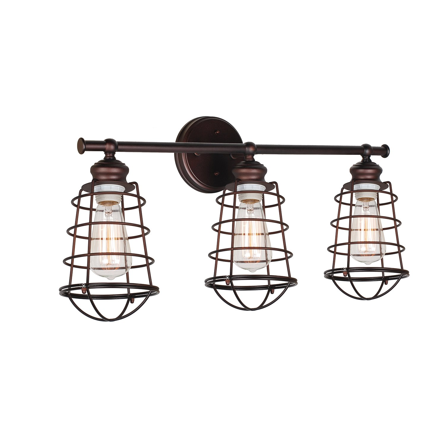 Design House Ajax Light Vanity Light Bronze Amazoncom - Bathroom vanity lights with shades
