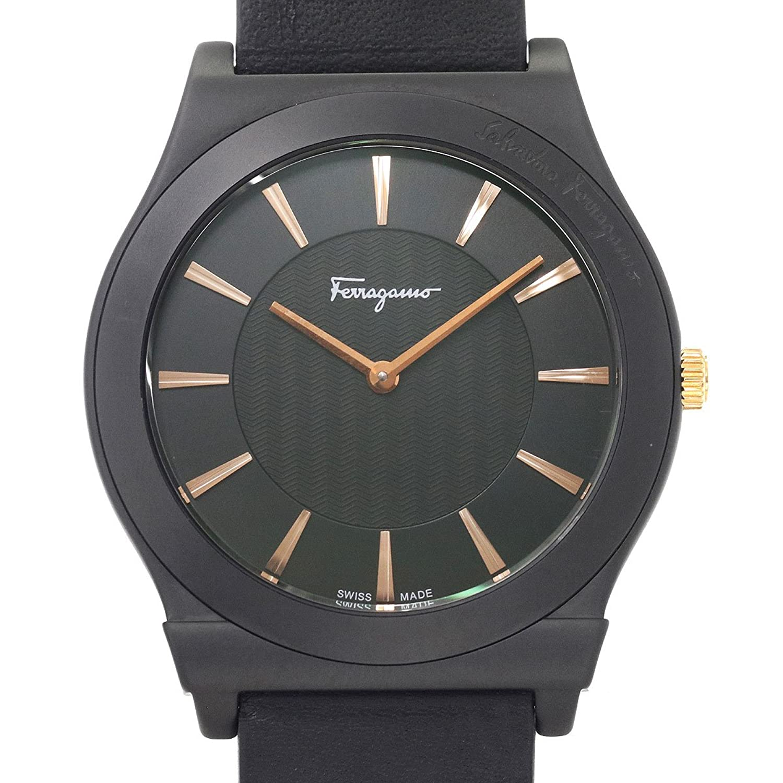 サルヴァトーレ フェラガモ Salvatore Ferragamo スリム FQ3 メンズ 腕時計 ブラック セラミック クォーツ ウォッチ 【中古】 90053856 [並行輸入品] B07DVSKQ9L