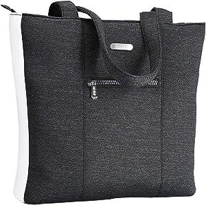 FOFRER Large Laptop Tote Bag, Multifunctional Work Travel Shoulder Bag Office Briefcase Handbag Laptop Bag for 15-17 Inch Laptop/Notebook/MacBook/Tablet Computer (Grey)