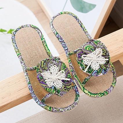 Amazon.com  WindGoal Women s Linen Summer Skidproof Indoor Home ... c07035f472