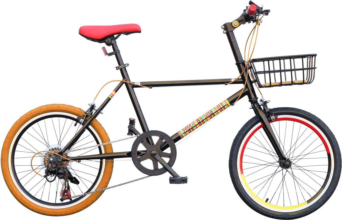 Airbike ミニベロ 20インチ 3色リム かご付き シマノ7段変速 B077MDH397 オレンジ オレンジ