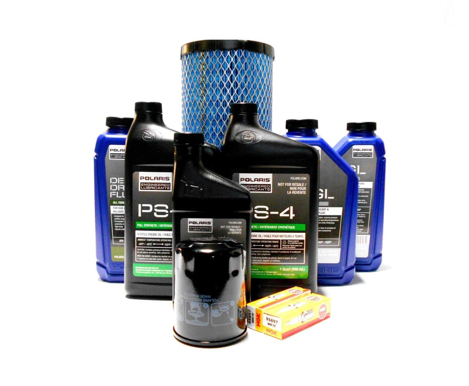 Polaris Ace General RZR OEM Complete Oil Change Service Kit POL06 by Powersports Authority (Image #1)