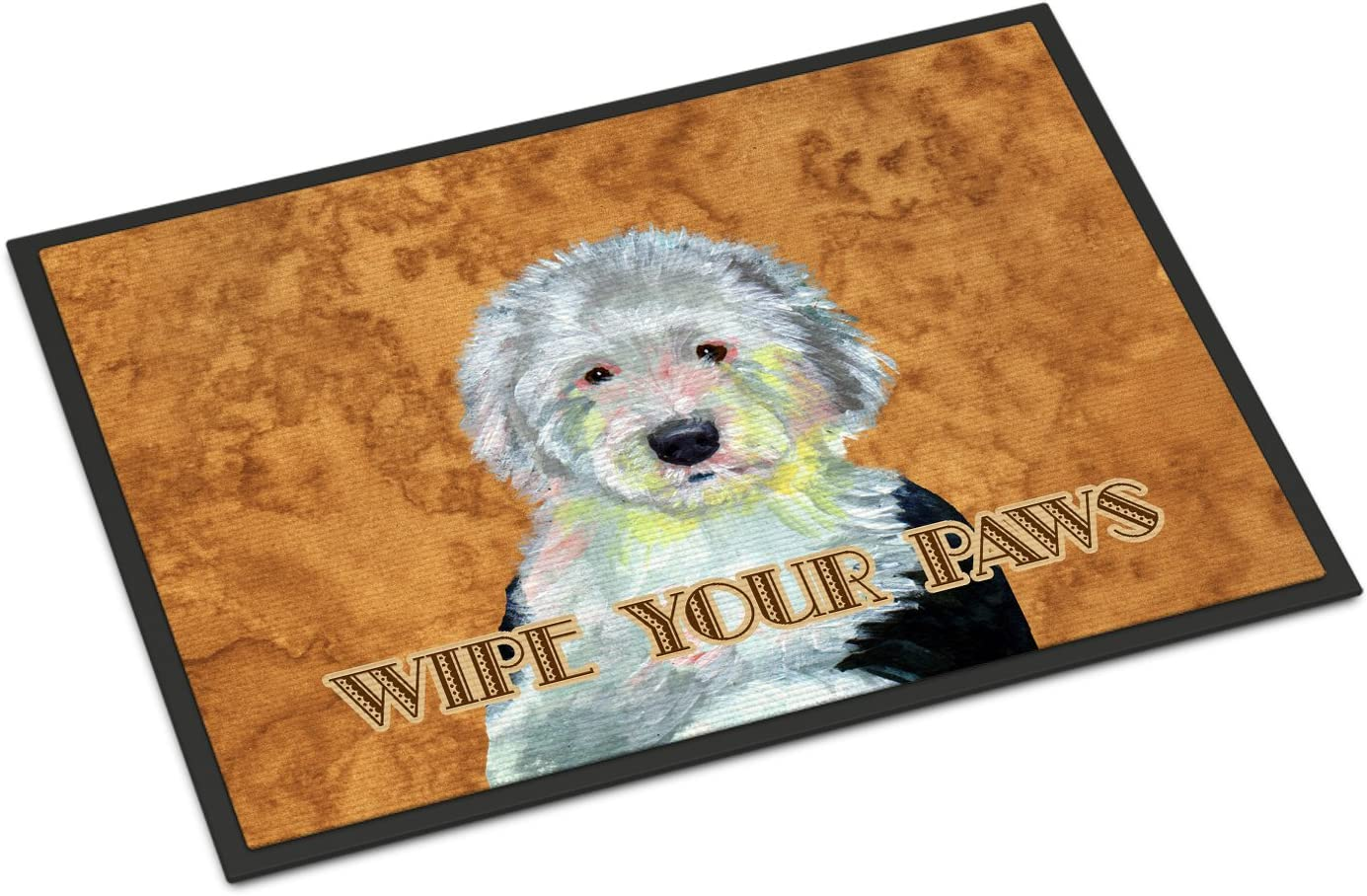 Caroline s Treasures LH9457JMAT Old English Sheepdog Wipe Your Paws Indoor or Outdoor Mat 24×36, 24H X 36W, Multicolor