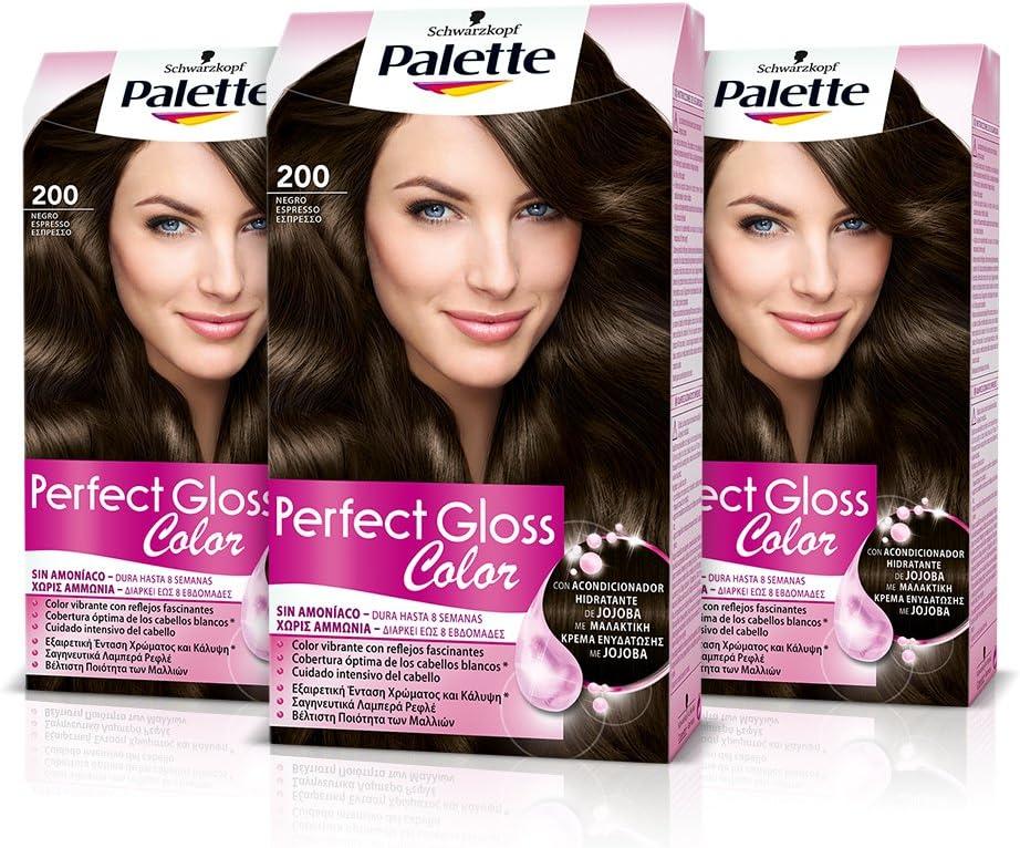 Palette Perfect Gloss Coloración del Cabello 200 Negro ...