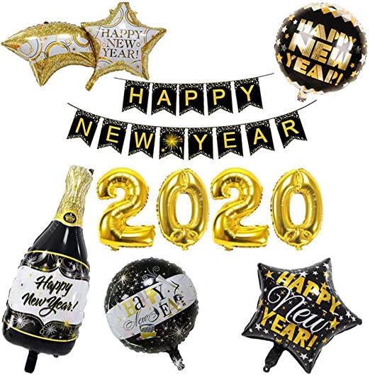 """NEW SEALED /""""HAPPY NEW YEAR/"""" Door Sign Decoration 30/"""" by 60/"""" Holiday Eve Party"""