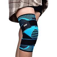 Knie Support Brace, Compressie Kniemouw met Antislip Verstelbare Drukband, Knie Protector voor Hardlopen Sport…