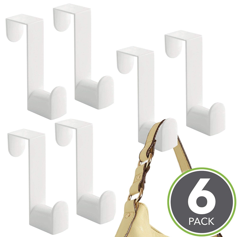 mDesign Juego de 3 percheros para puerta – Colgadores para puertas para  colocar en el pasillo b154058b7ee5