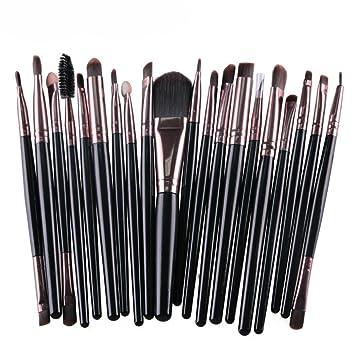 Amazon.com: 20 piezas Juego de cepillos de maquillaje de ...