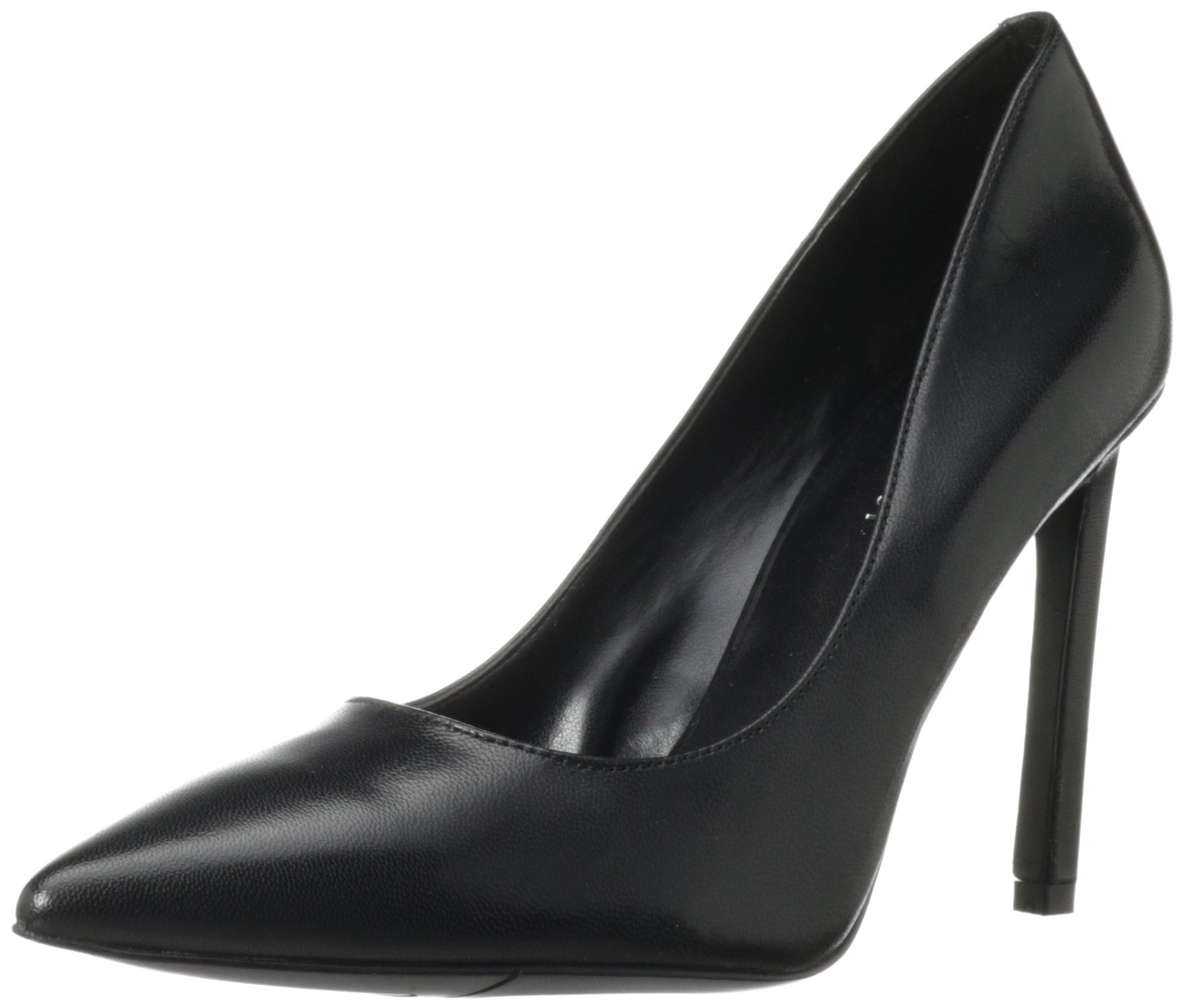 Nine West Women's Tatiana Dress Pump,Black Dark Natural Suede,7.5 M US