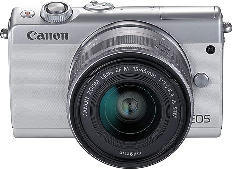 Canon EOS M100 WH M15-45 S - Cámara con Sensor APS-C de 24.2 MP ...