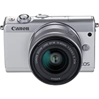 Canon EOS M100 digitalkamerapit 24,2 MP CMOS 6000 x 4000 pixlar, CMOS, Full HD, pekskärm, vit