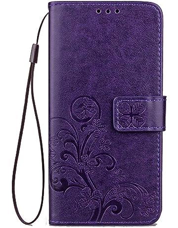 JAWSEU Funda Compatible con Huawei Honor 7X, PU Cuero Tipo Libro Billetera Carcasa con Función