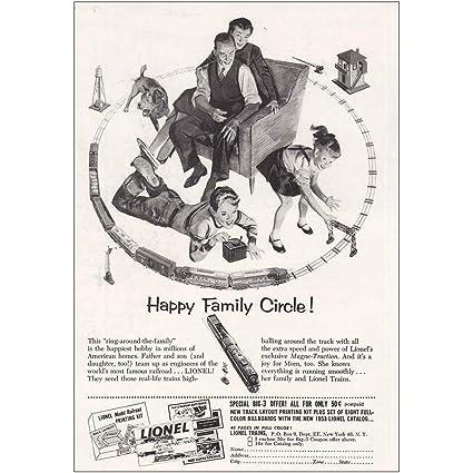 Amazon RelicPaper 1953 Lionel Trains Happy Family Circle