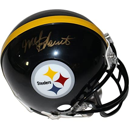 bd8229e3f Image Unavailable. Image not available for. Color  Mel Blount Autographed  Signed Pittsburgh Steelers Mini Helmet - Authentic Signature