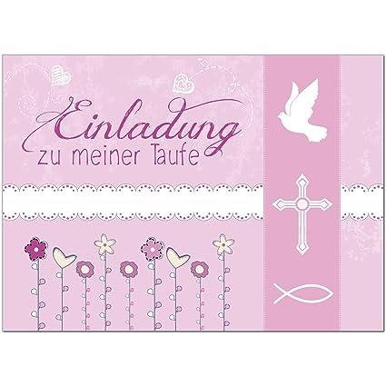 15 X Einladung Zur Taufeeinladungskarten Mit Umschlag Im Seteinladung Zu Meiner Taufe Rosa Modernbaby Taufkartegrußkartepostkarte