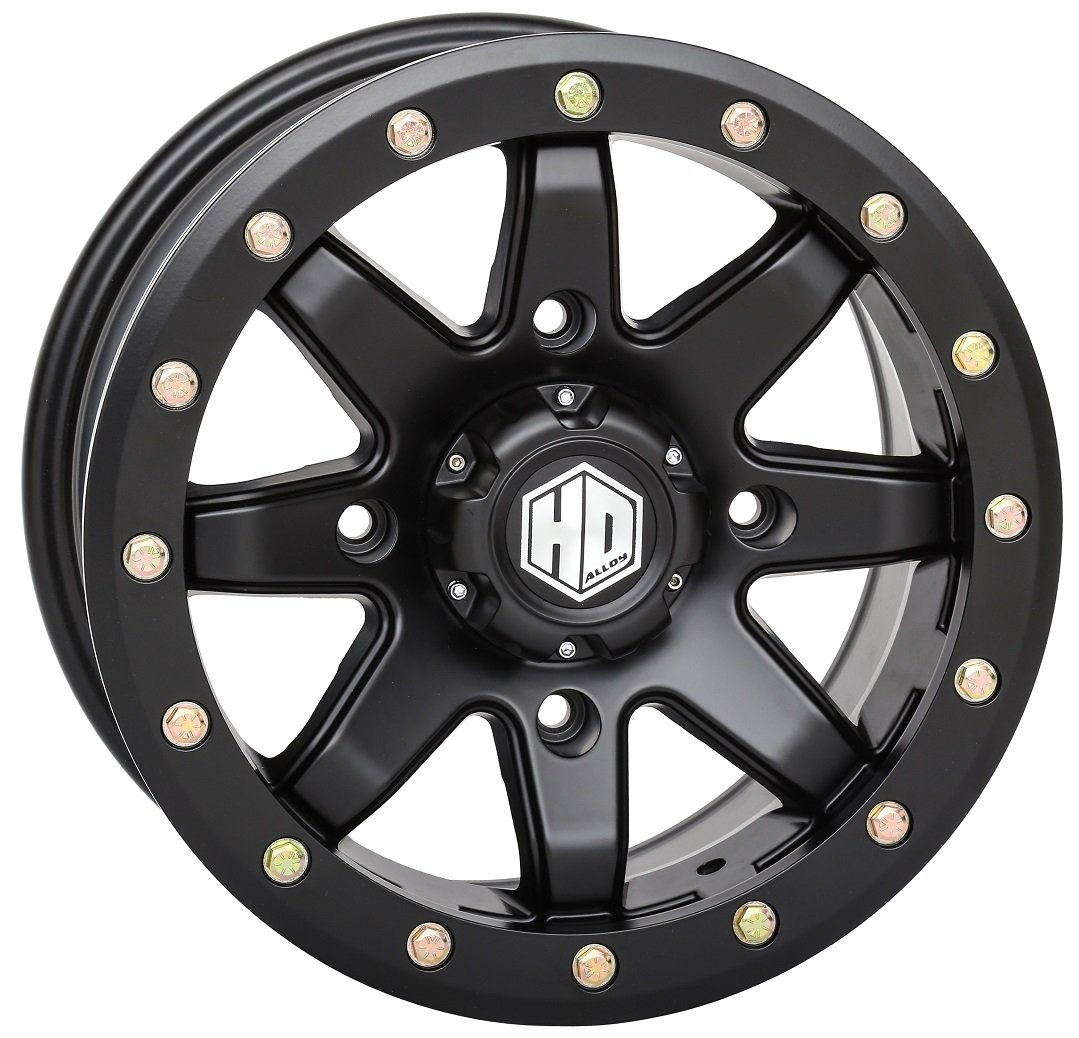 STI HD9 Beadlock 15x7 ATV/UTV Wheel - Matte Black (4/156) 6+1 [15HB925]