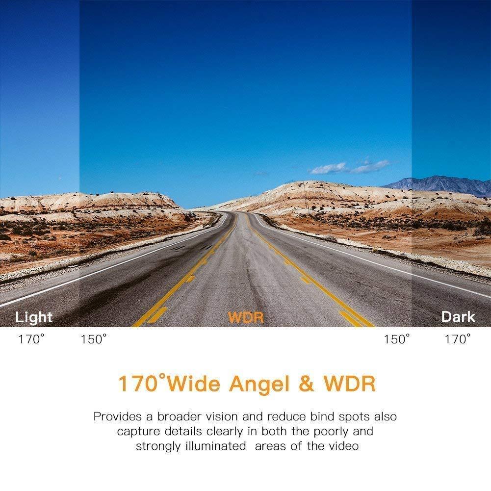 Mibor Dash Cam 1080P Full HD Car DVR Recorder 170/° Wide Angle,Loop Recording,G-Sensor,Night Vision