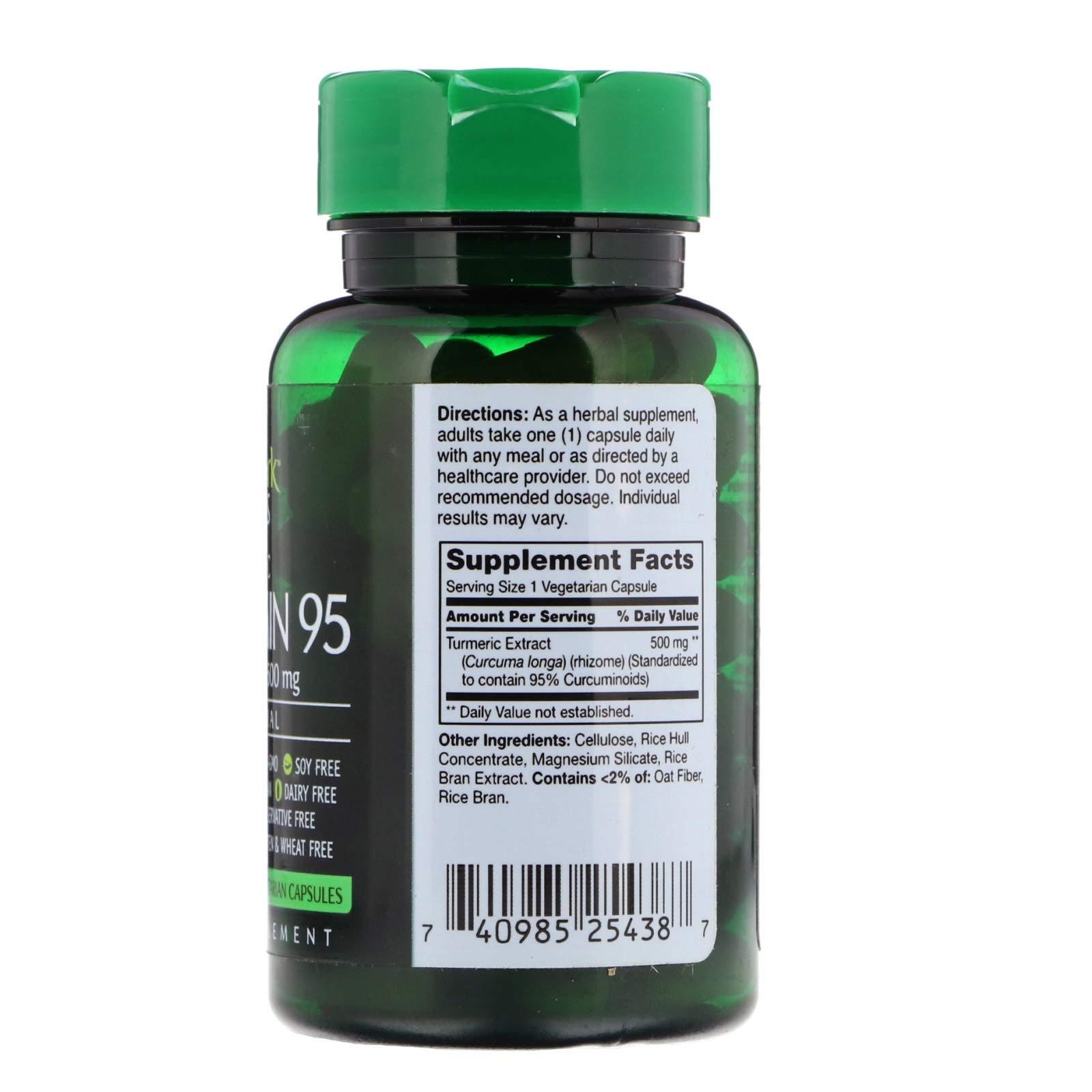 Puremark Naturals Turmeric Curcumin 95, 500mg, 60 Capsules Per Bottle (Pack of 9)