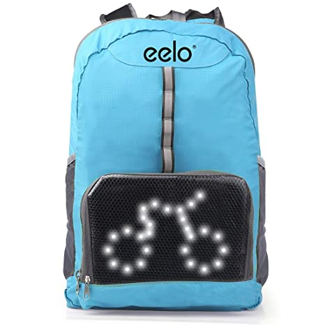 eelo Cyglo - The Ultimate Outdoor Cycle Backpack for Full Visibility and  Awareness. Keeping the Rider Safe from Careless Drivers. Safety Back Pack  with Rear ... 3b7e14b603244