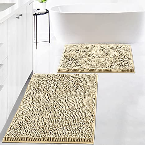 Details about  /Original Shag Chenille Bath Rug for Bathroom Non Slip Ultra Thick and Soft Plush