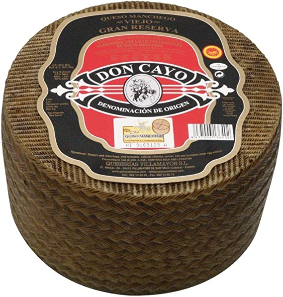 Don Cayo Queso Manchego Viejo Grande - 3200 gr: Amazon.es ...