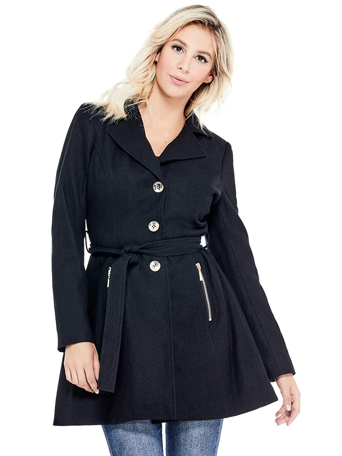 Guess Factory Women's Larae Fit-and-Flare Coat GuessFactory