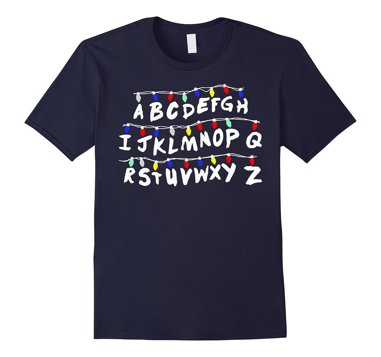 ABCDEFGH t-shirt - Strange lights Alphabet-BN