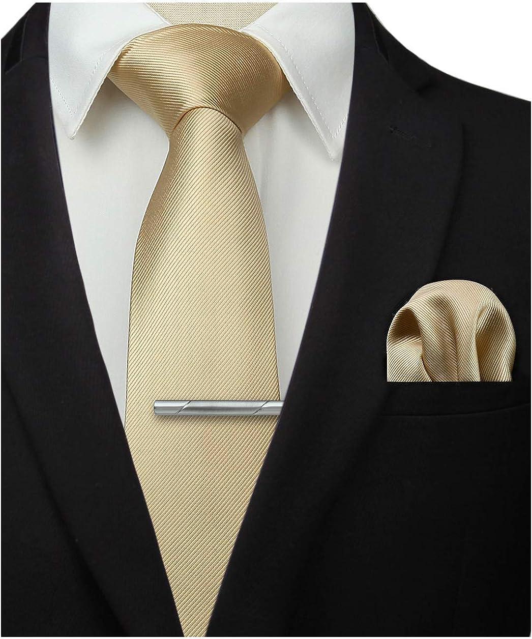 verschiedene Designs Krawatte und Einstecktuch klassische Herren-Krawatte mit Taschentuch Kunstseide in Designs Seide inkl. handgefertigt Herren-Krawatten-Set Manschettenkn/öpfen