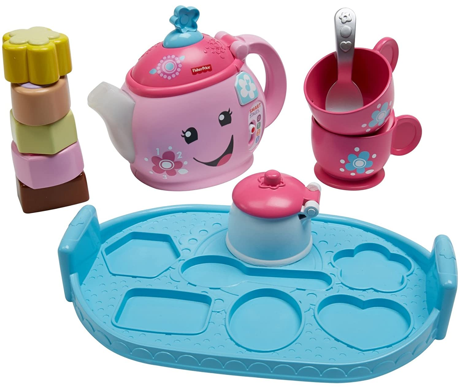 Amazon.com: Fisher-Price Laugh & Learn Sweet Manners Tea Set ...